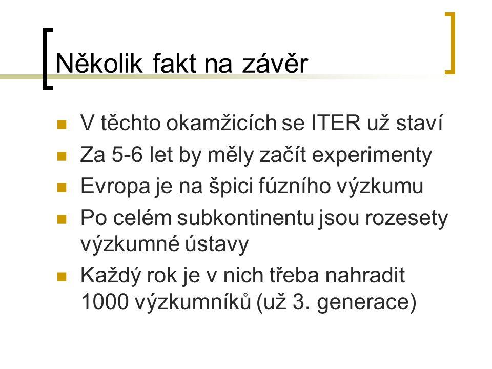Několik fakt na závěr V těchto okamžicích se ITER už staví