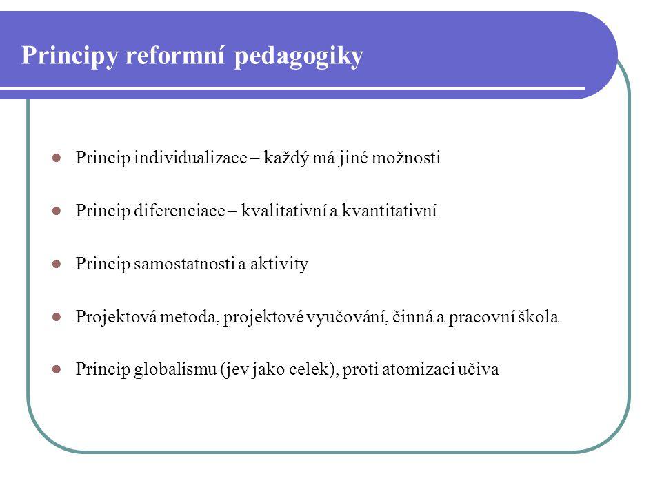 Principy reformní pedagogiky