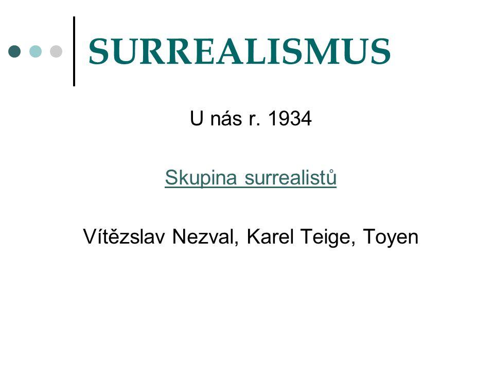 Vítězslav Nezval, Karel Teige, Toyen