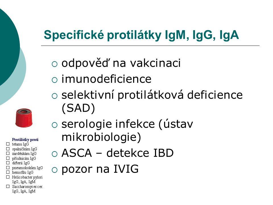 Specifické protilátky IgM, IgG, IgA