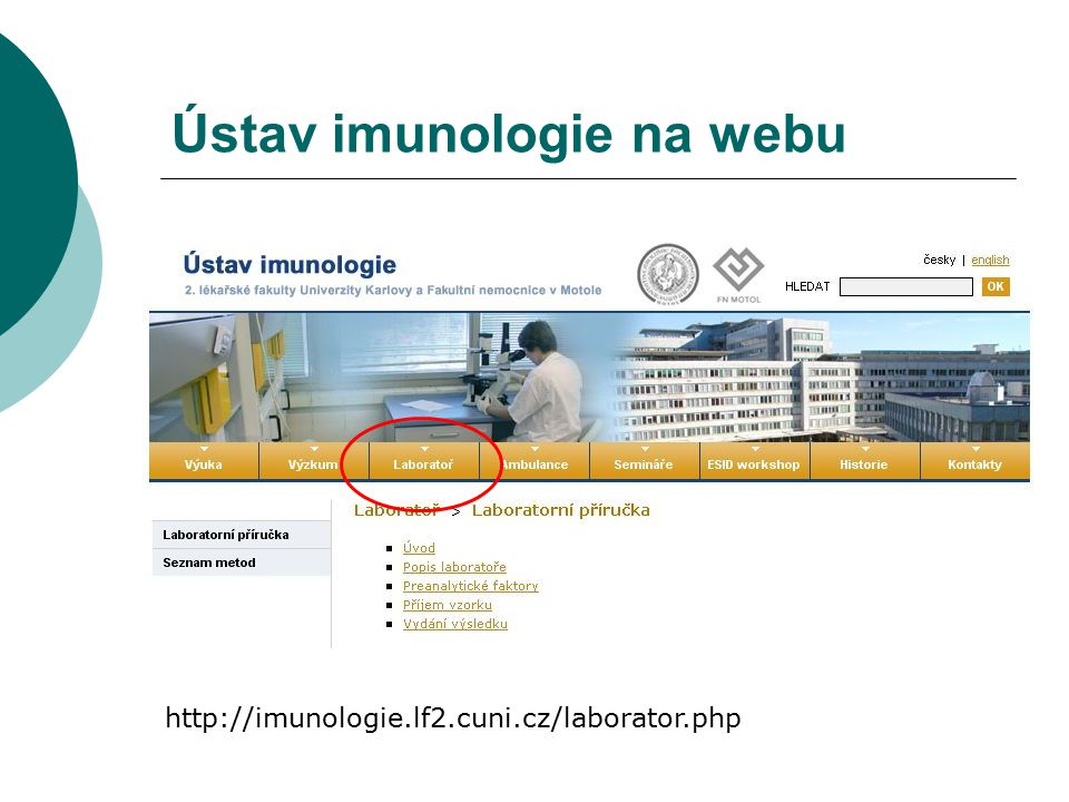 Ústav imunologie na webu