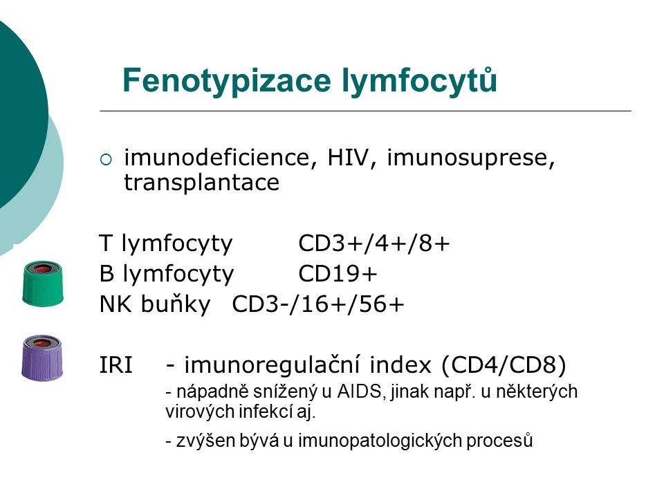 Fenotypizace lymfocytů