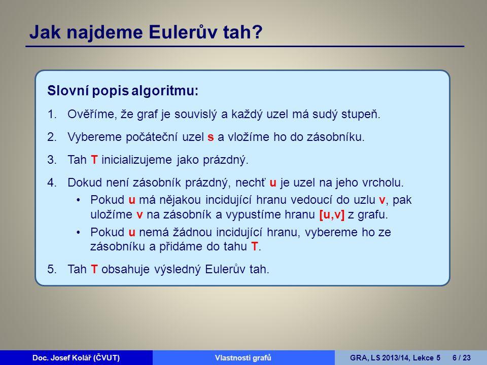 Jak najdeme Eulerův tah