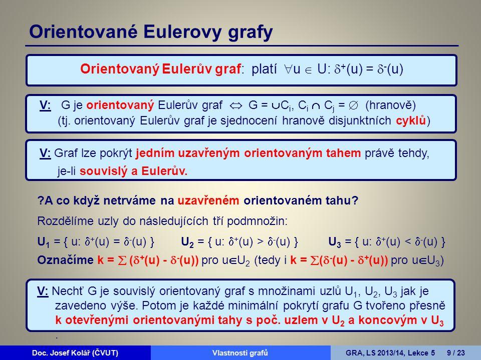 Orientované Eulerovy grafy