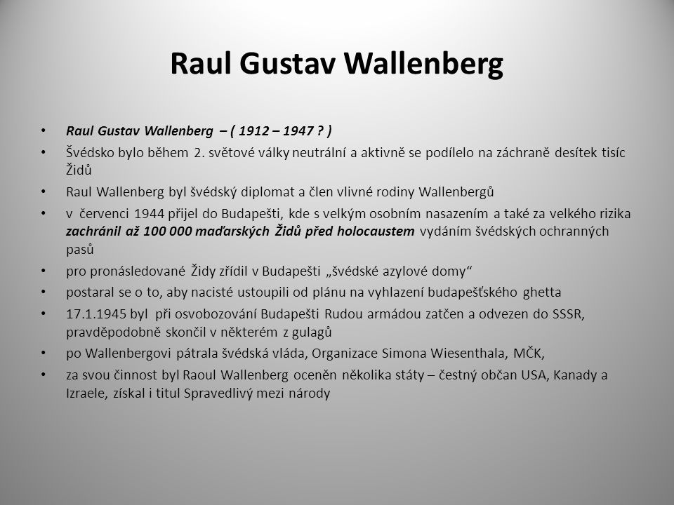 Raul Gustav Wallenberg