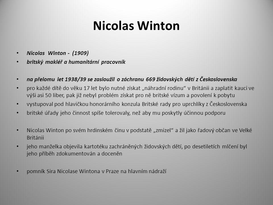 Nicolas Winton Nicolas Winton - (1909)