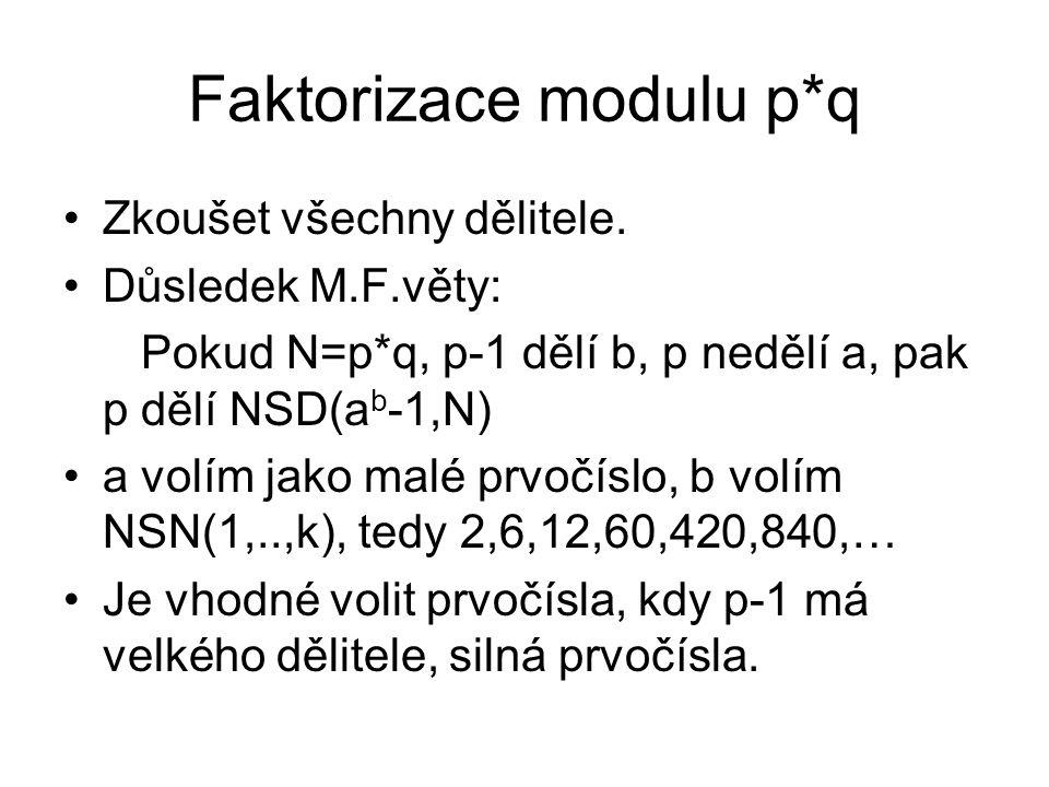 Faktorizace modulu p*q