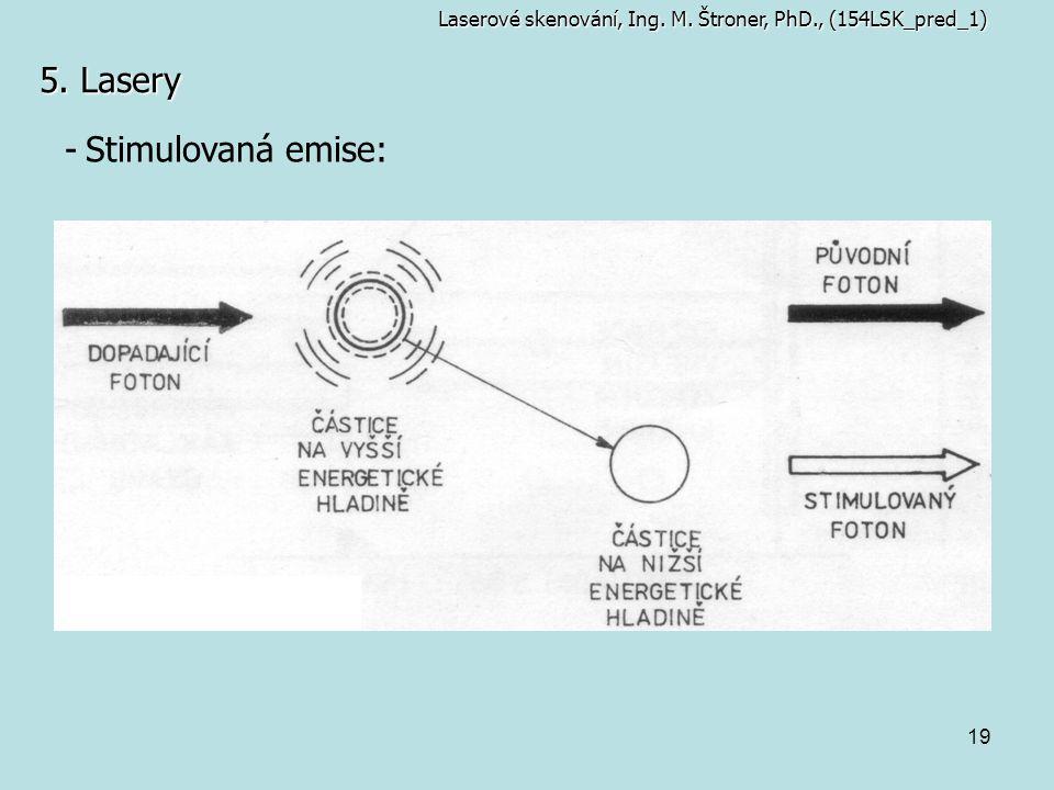 5. Lasery Stimulovaná emise: