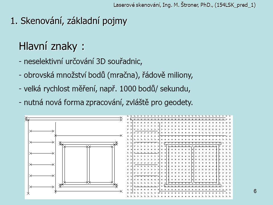 Hlavní znaky : 1. Skenování, základní pojmy