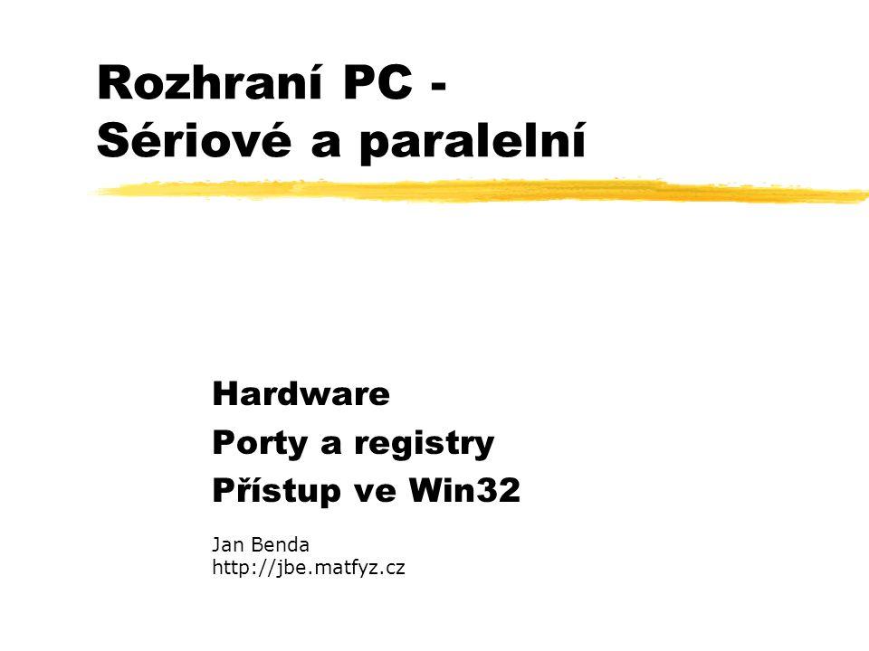 Rozhraní PC - Sériové a paralelní
