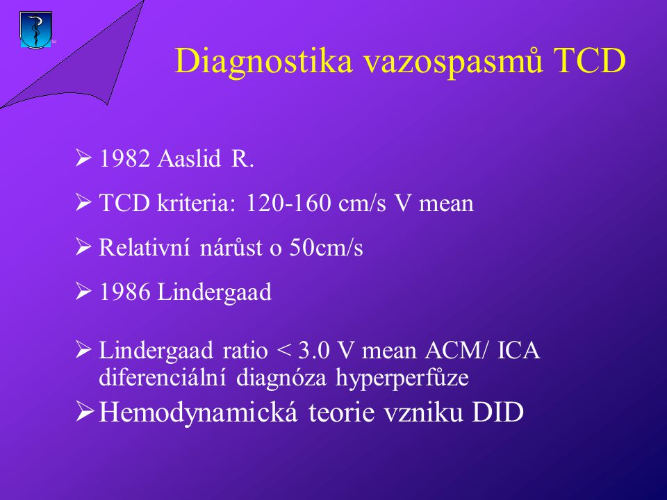 Diagnostika vazospasmů TCD