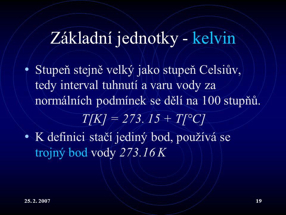 Základní jednotky - kelvin