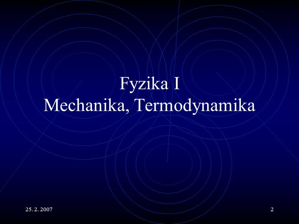 Fyzika I Mechanika, Termodynamika