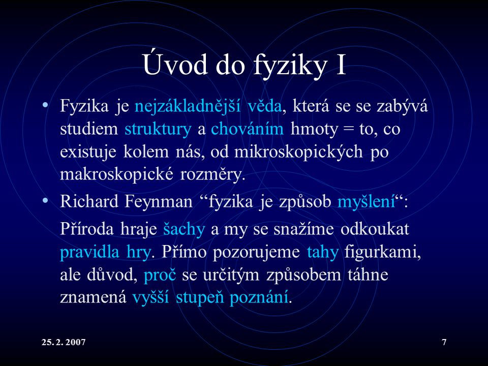 Úvod do fyziky I