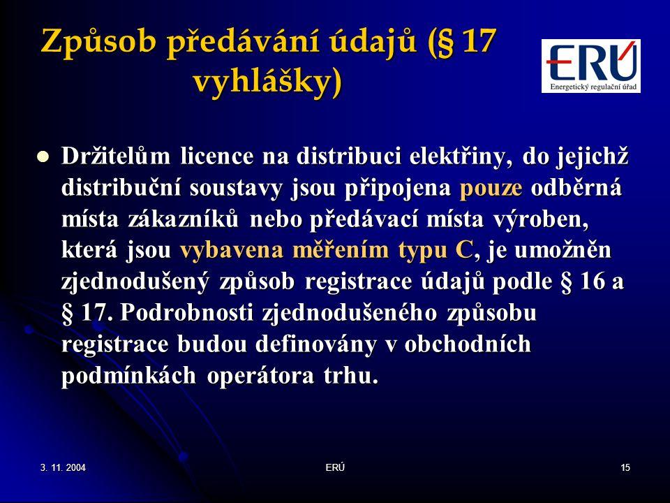 Způsob předávání údajů (§ 17 vyhlášky)