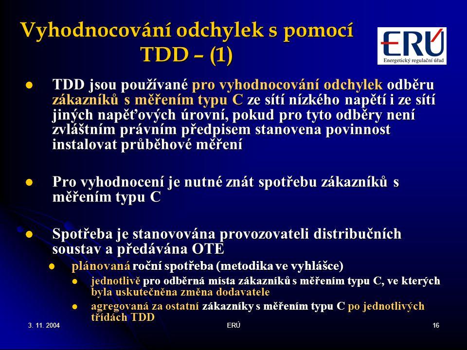 Vyhodnocování odchylek s pomocí TDD – (1)