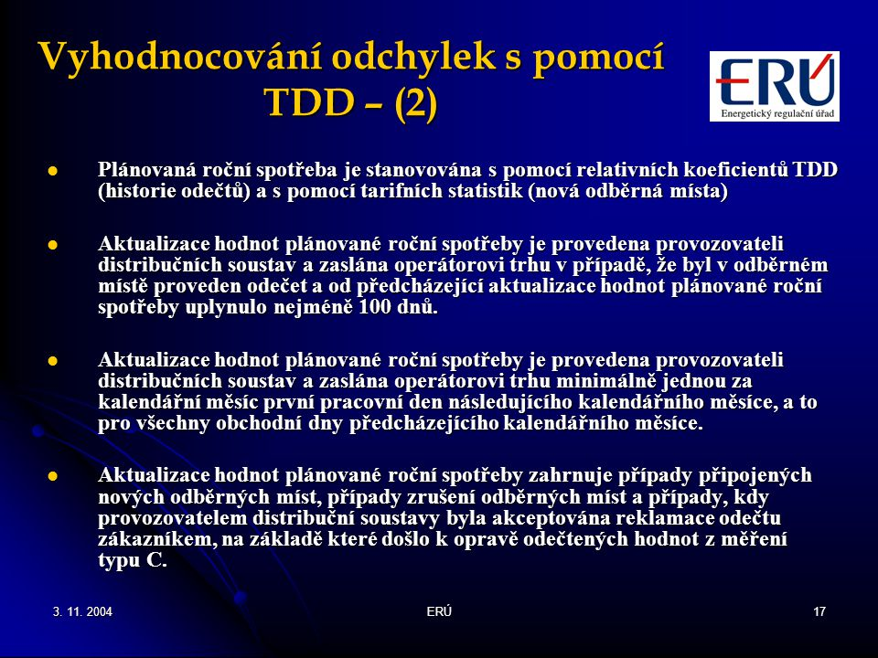 Vyhodnocování odchylek s pomocí TDD – (2)