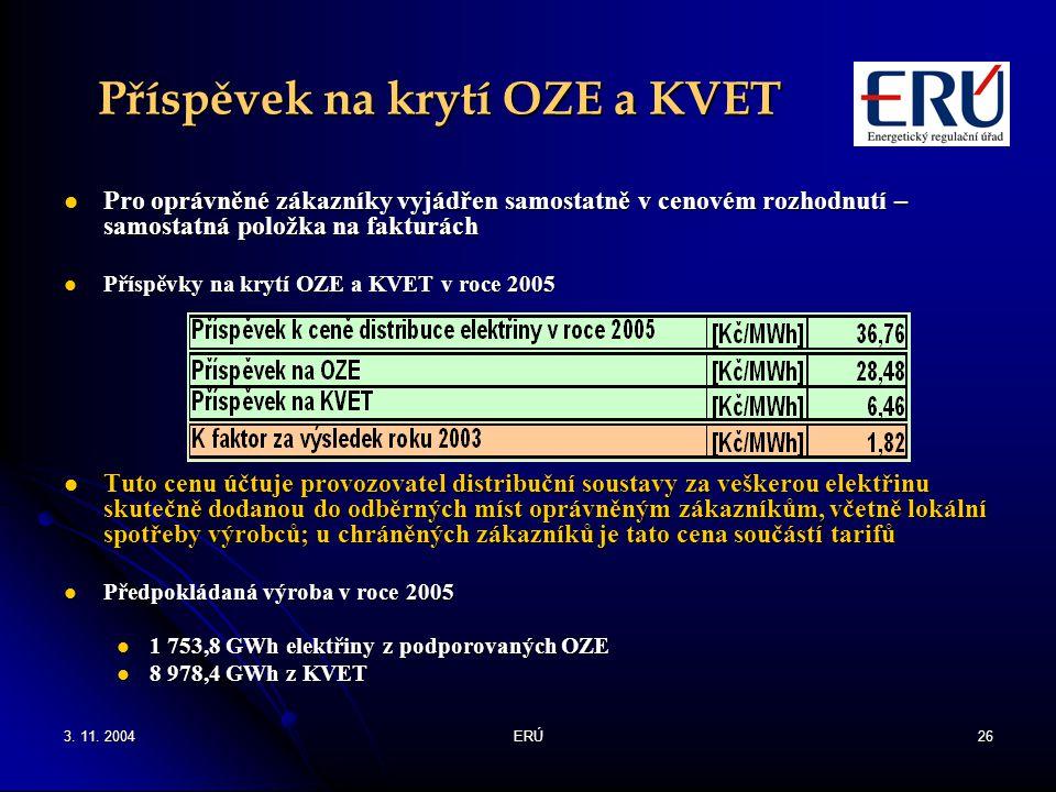 Příspěvek na krytí OZE a KVET