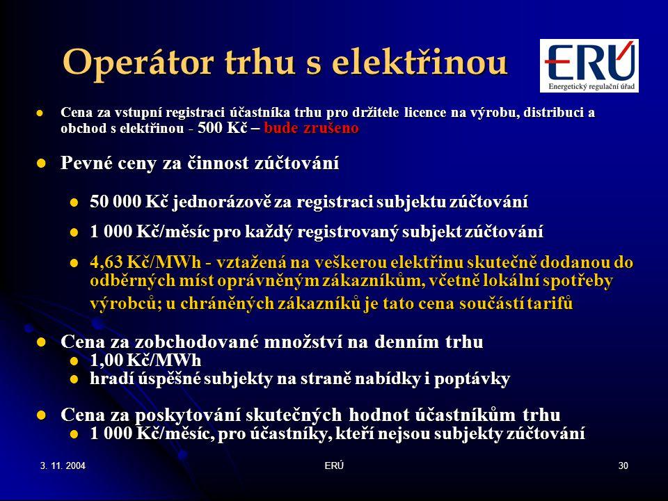 Operátor trhu s elektřinou