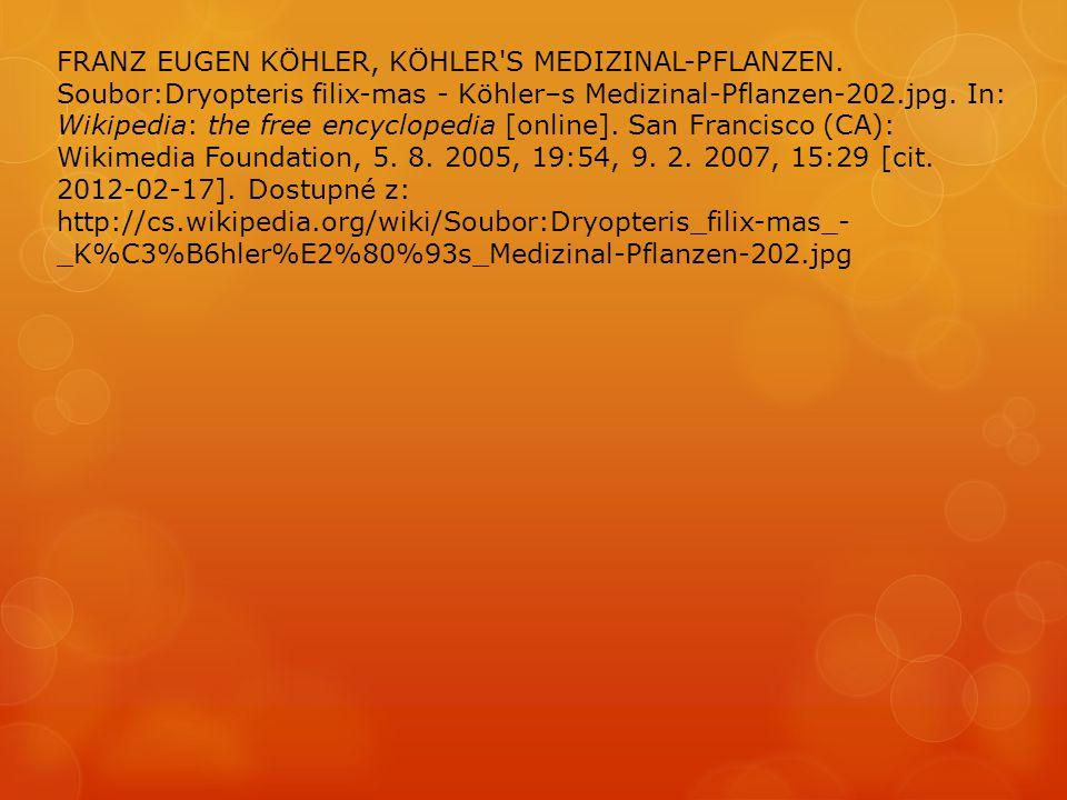 FRANZ EUGEN KÖHLER, KÖHLER S MEDIZINAL-PFLANZEN