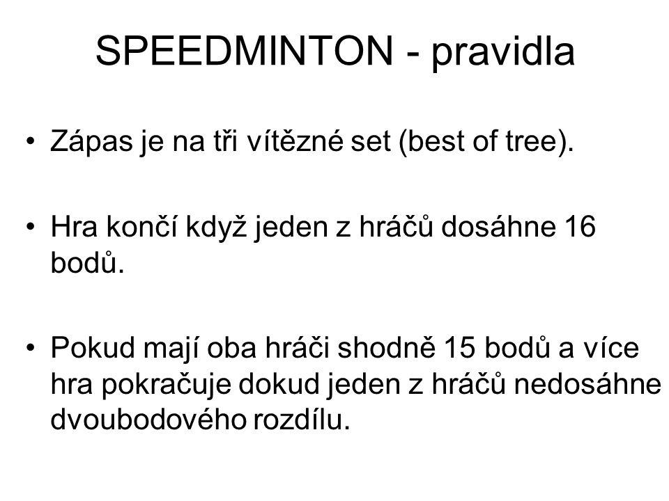 SPEEDMINTON - pravidla
