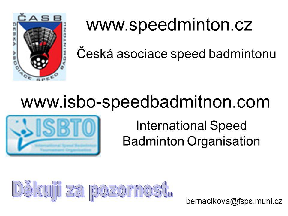 www.speedminton.cz www.isbo-speedbadmitnon.com Děkuji za pozornost.