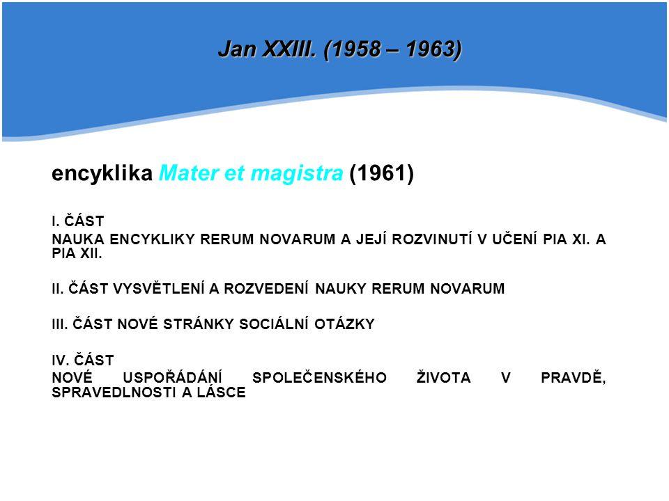 encyklika Mater et magistra (1961)