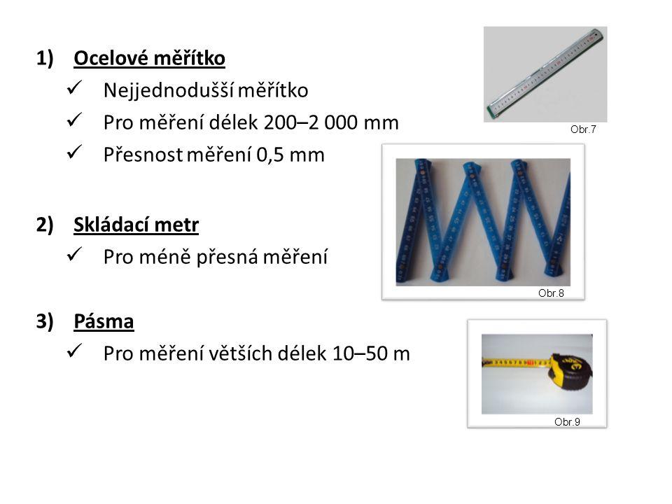 Nejjednodušší měřítko Pro měření délek 200–2 000 mm