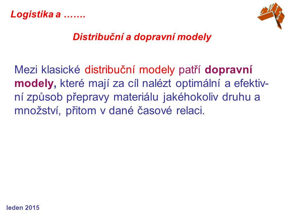 CW13 Logistika a ……. Distribuční a dopravní modely.