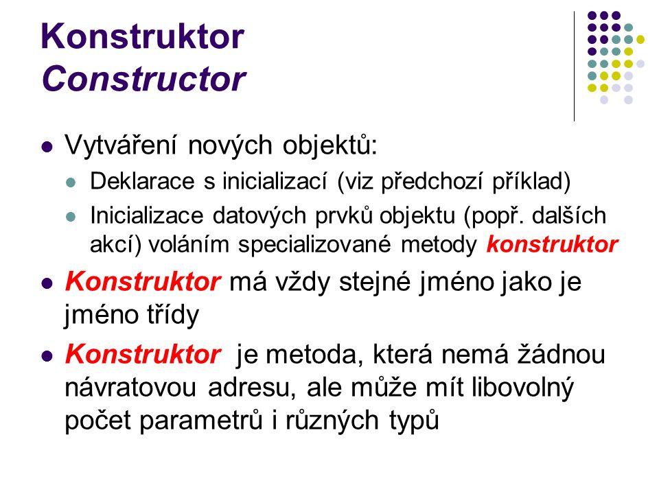 Konstruktor Constructor