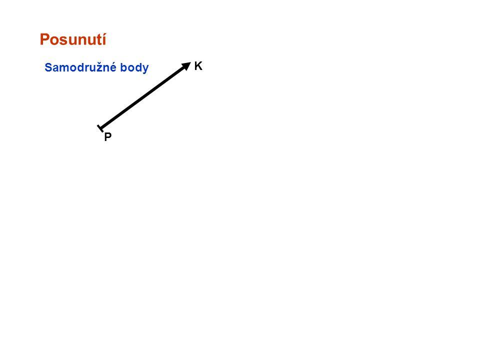 Posunutí Samodružné body K P