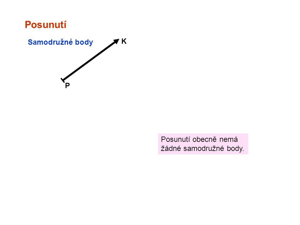Posunutí K Samodružné body P Posunutí obecně nemá