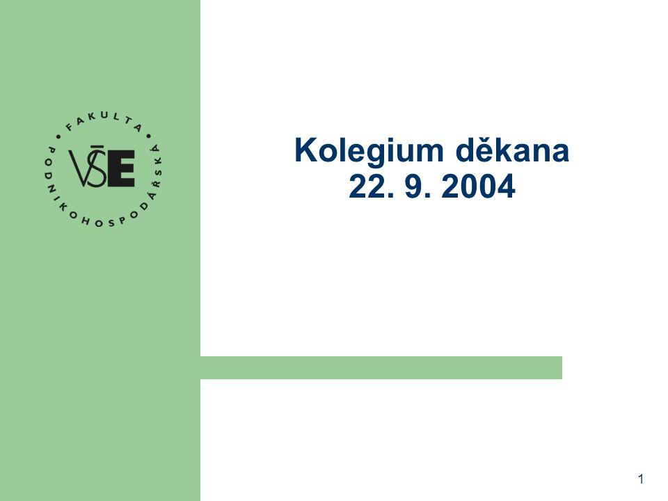 Kolegium děkana 22. 9. 2004