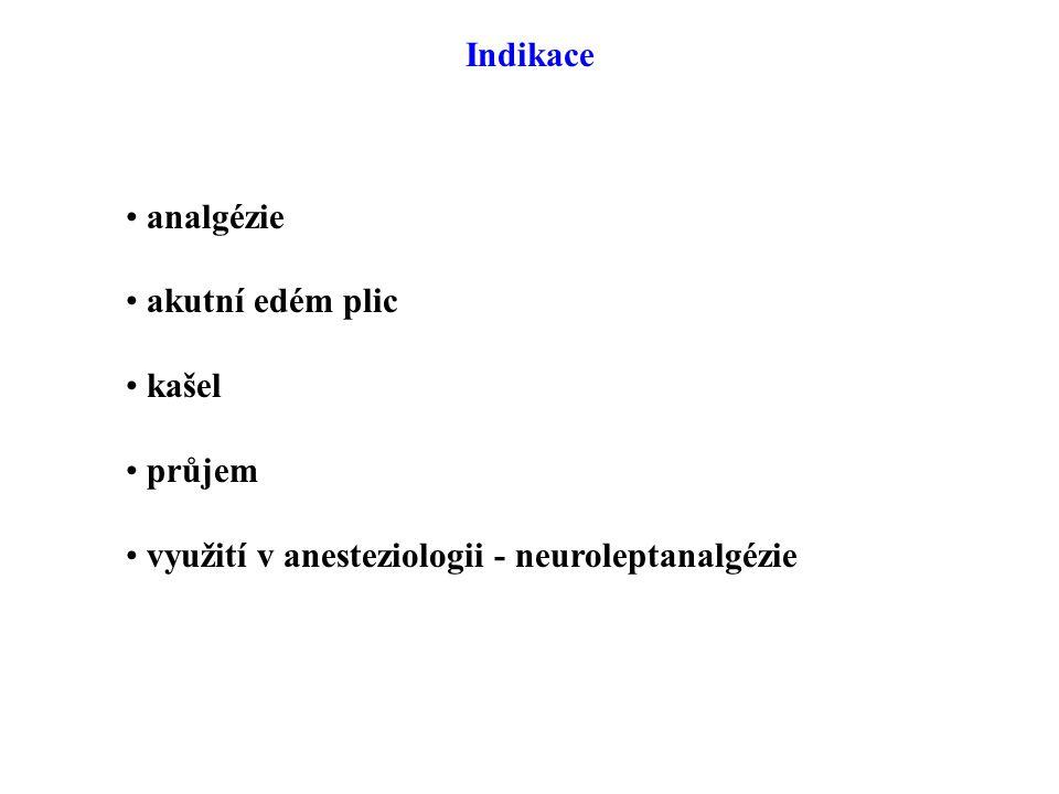 Indikace analgézie akutní edém plic kašel průjem využití v anesteziologii - neuroleptanalgézie