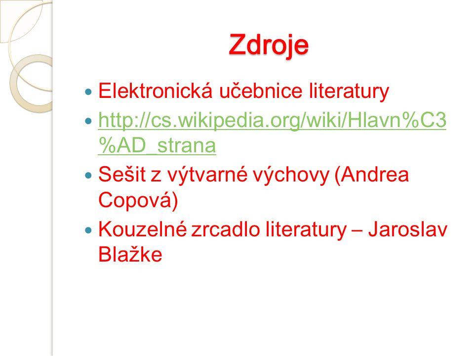 Zdroje Elektronická učebnice literatury