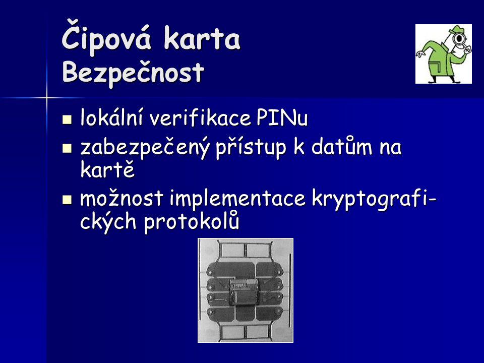 Čipová karta Bezpečnost