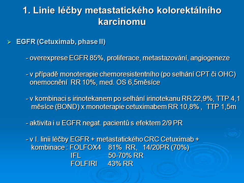 1. Linie léčby metastatického kolorektálního karcinomu