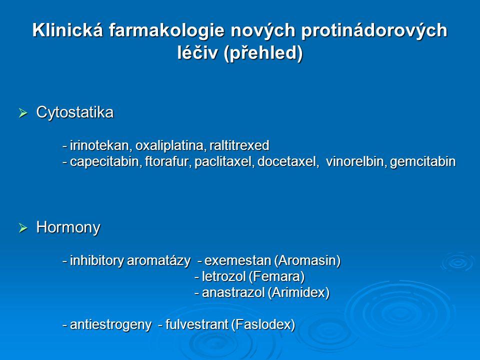 Klinická farmakologie nových protinádorových léčiv (přehled)