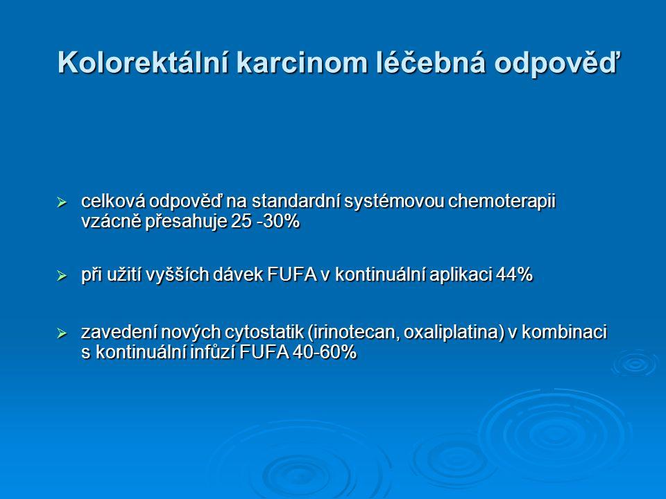 Kolorektální karcinom léčebná odpověď