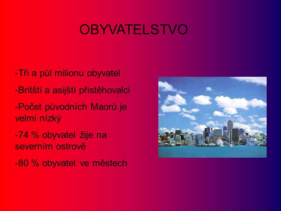 OBYVATELSTVO Tři a půl milionu obyvatel