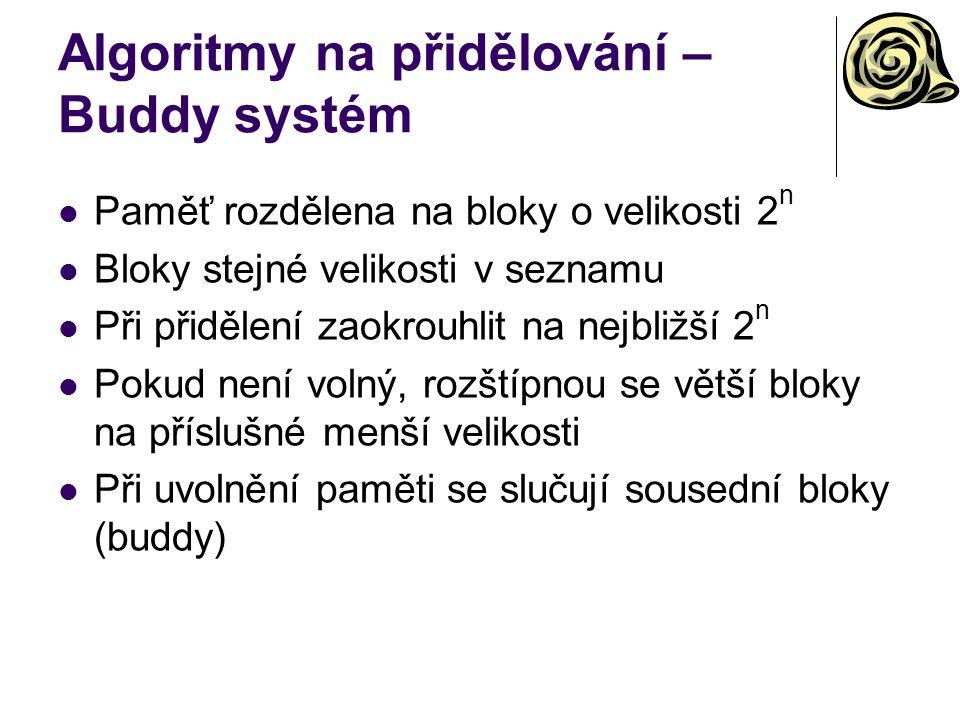 Algoritmy na přidělování – Buddy systém