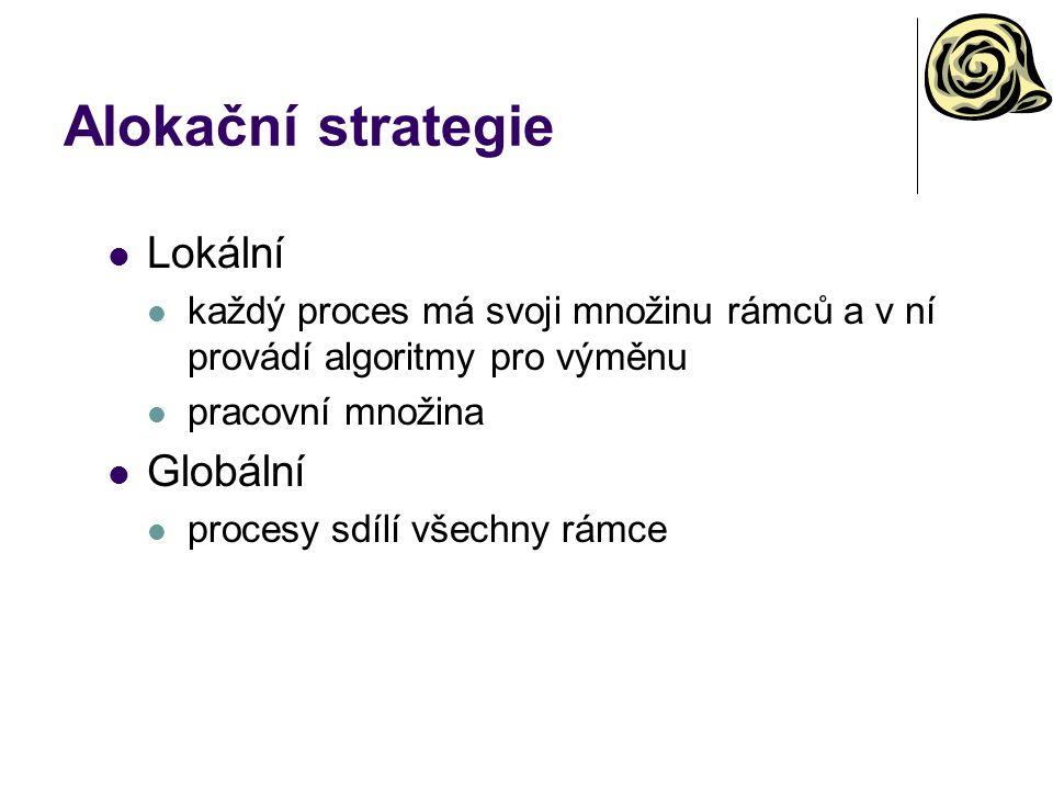 Alokační strategie Lokální Globální