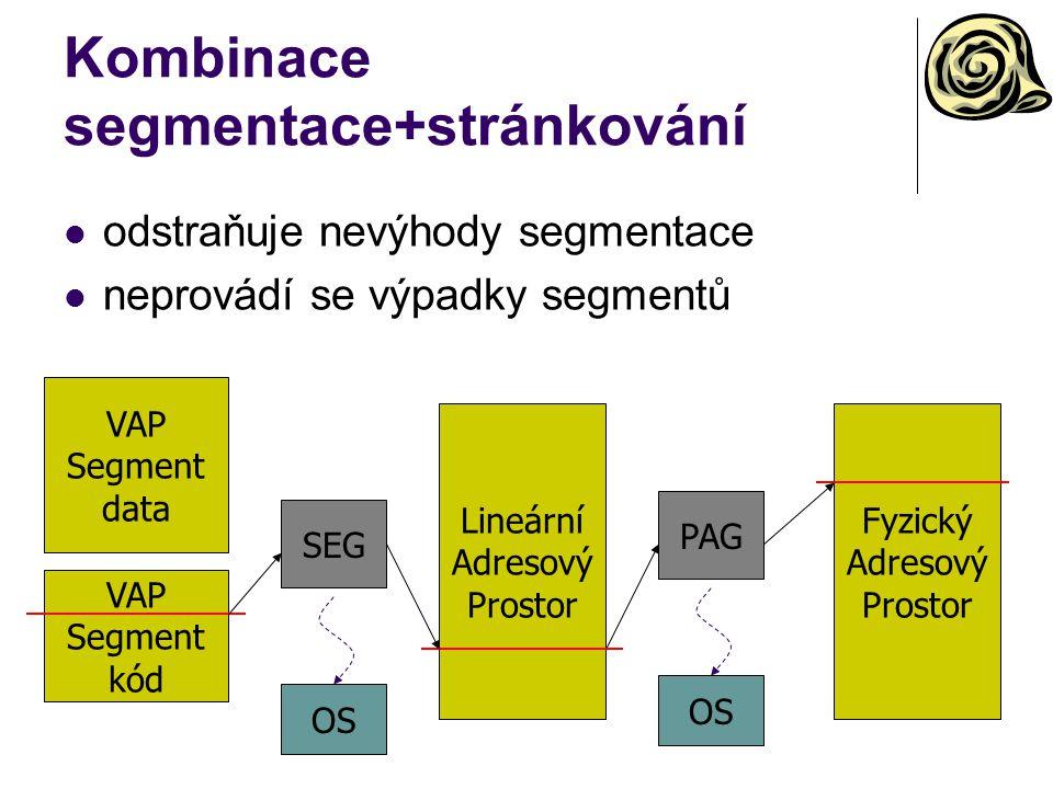 Kombinace segmentace+stránkování