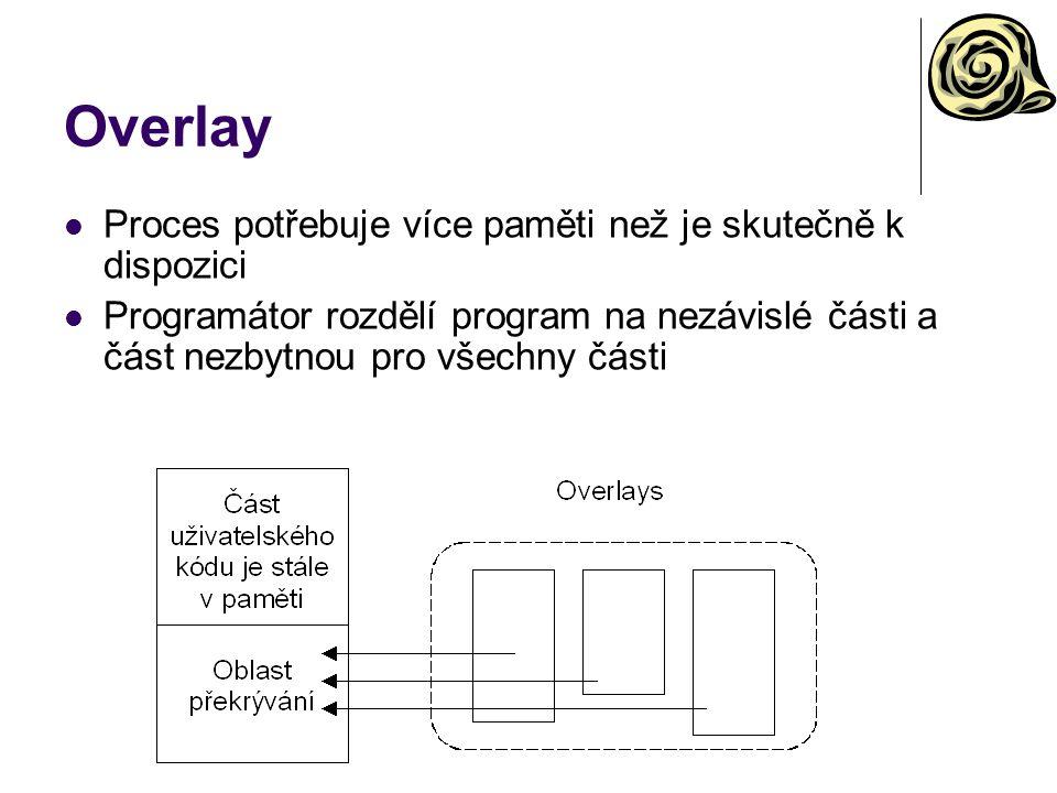 Overlay Proces potřebuje více paměti než je skutečně k dispozici