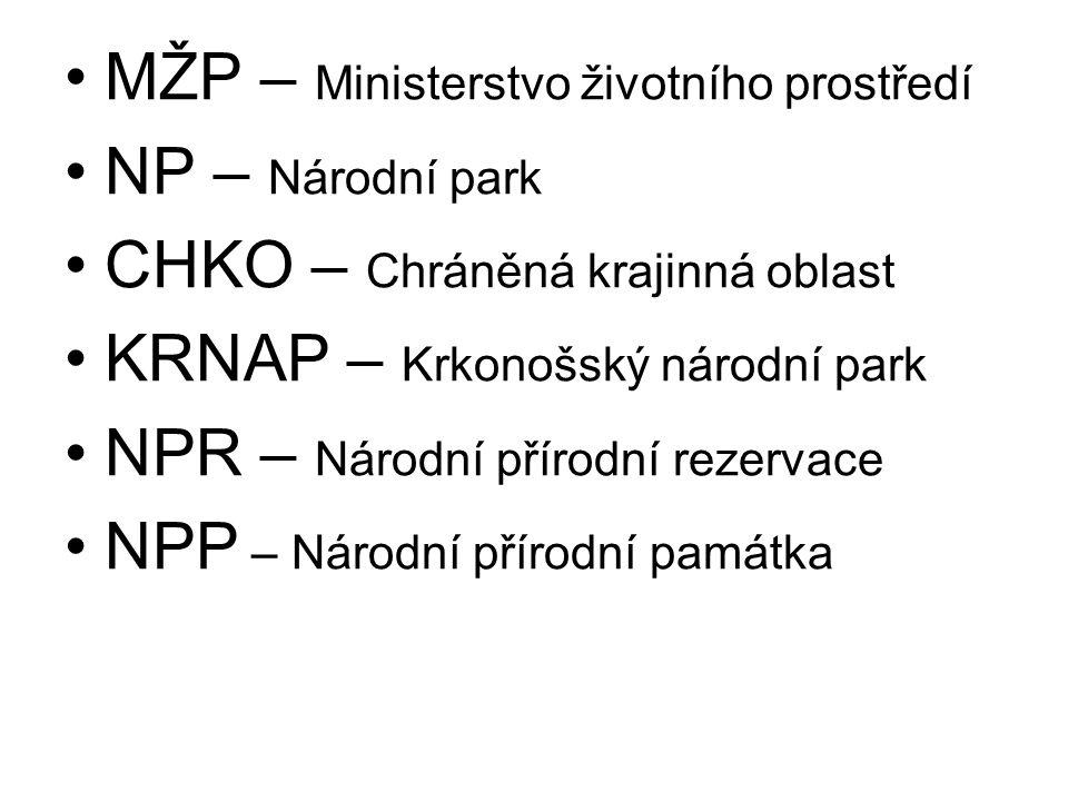 MŽP – Ministerstvo životního prostředí