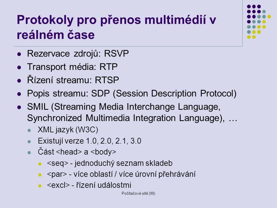 Protokoly pro přenos multimédií v reálném čase