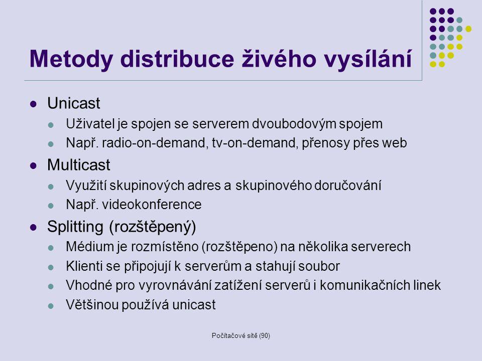 Metody distribuce živého vysílání