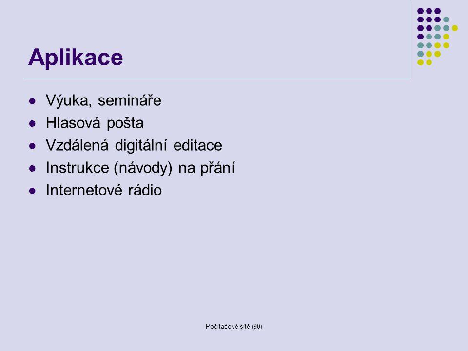 Aplikace Výuka, semináře Hlasová pošta Vzdálená digitální editace