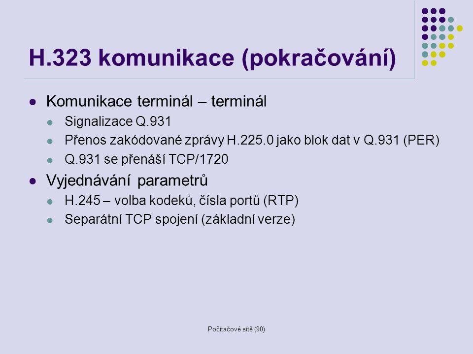 H.323 komunikace (pokračování)