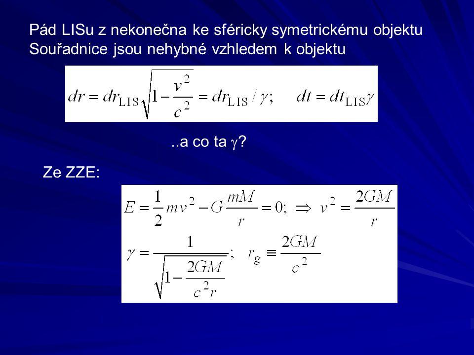 Pád LISu z nekonečna ke sféricky symetrickému objektu